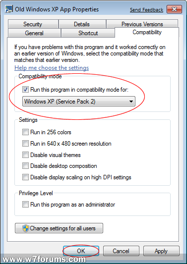 Application Compatibility Mode | Windows 7 Forums