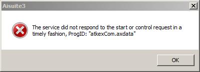 Aisuite3 - ProgID atkexCom.axdata did not respond.PNG