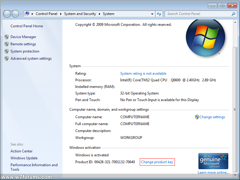 key windows 7 professional 64 bit sp1