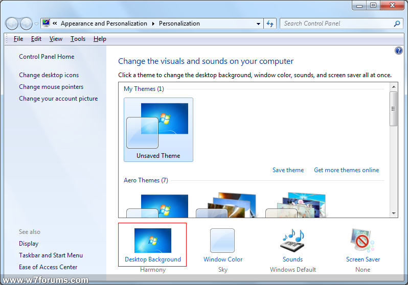 How To Change Wallpaper Windows 7 Forums
